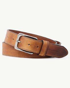 Stained Leather Casual Belt