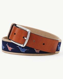 Marlin Flag Novelty Belt