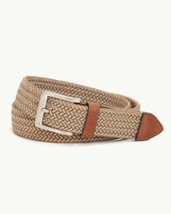 Two-Tone Stretch Webbed Belt