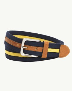 Two-Tone Stretch Webbed Belt