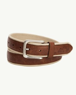 Canvas and Leather Overlay Belt