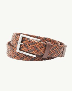Braided Tricolor Leather Belt