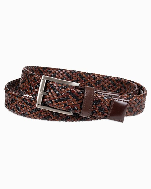 Tricolor Braided Leather Belt