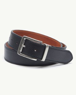 Stitched Reversible Leather Belt