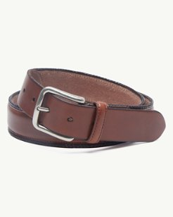 Braided Edges Leather Belt