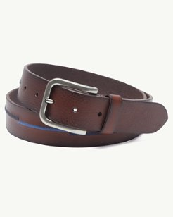 Embroidered Scales Leather Belt