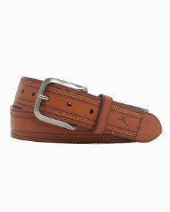 Braided Inlay Leather Belt