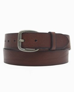 Leather Belt With Laced Tab