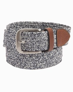 Heathered Fabric Braided Stretch Belt