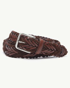Braided Leather and Suede Belt