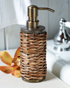 Retreat Wicker Lotion Dispenser