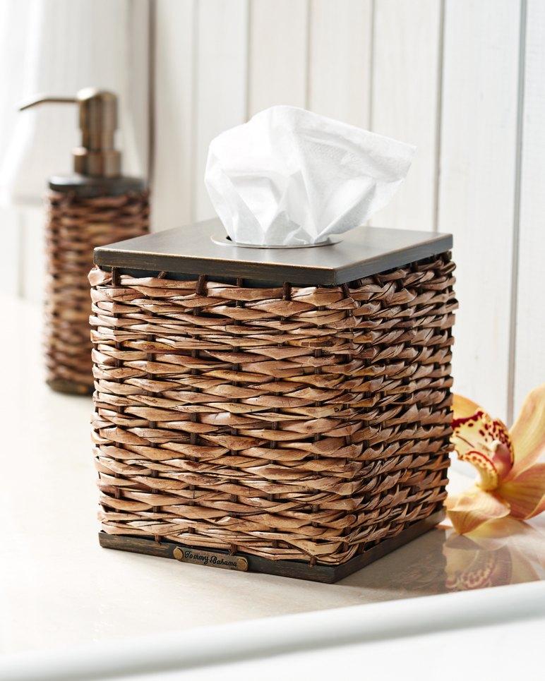 Main Image for Retreat Wicker Tissue-Box Cover