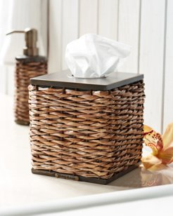 Retreat Wicker Tissue-Box Cover