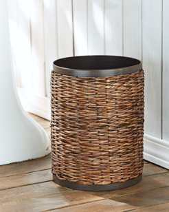 Retreat Wicker Wastebasket