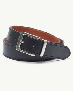 Big & Tall Stitched Reversible Leather Belt