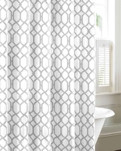 Shoretown Trellis Shower Curtain