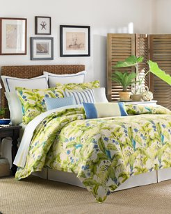 Blue Palm 4-Piece California King Comforter Set