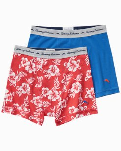 Floral & Solid Jersey-Knit Boxer Briefs - 2-Pack
