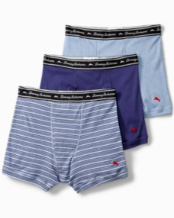 Solid Jersey-Knit Boxer Briefs - 3-Pack