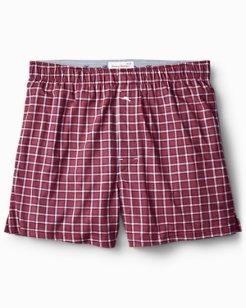 Box Plaid Knit Boxers