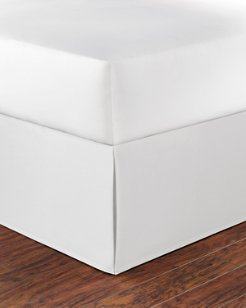 Solid White Cotton Queen Bed Skirt