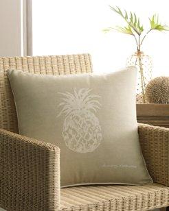 Canvas Stripe 20x20 Pineapple Pillow