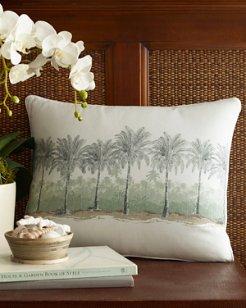 Canvas Stripe 16x20 Breezer Palm Pillow