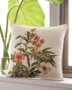 Rio De Janeiro 18X18 Floral Embroidered Pillow