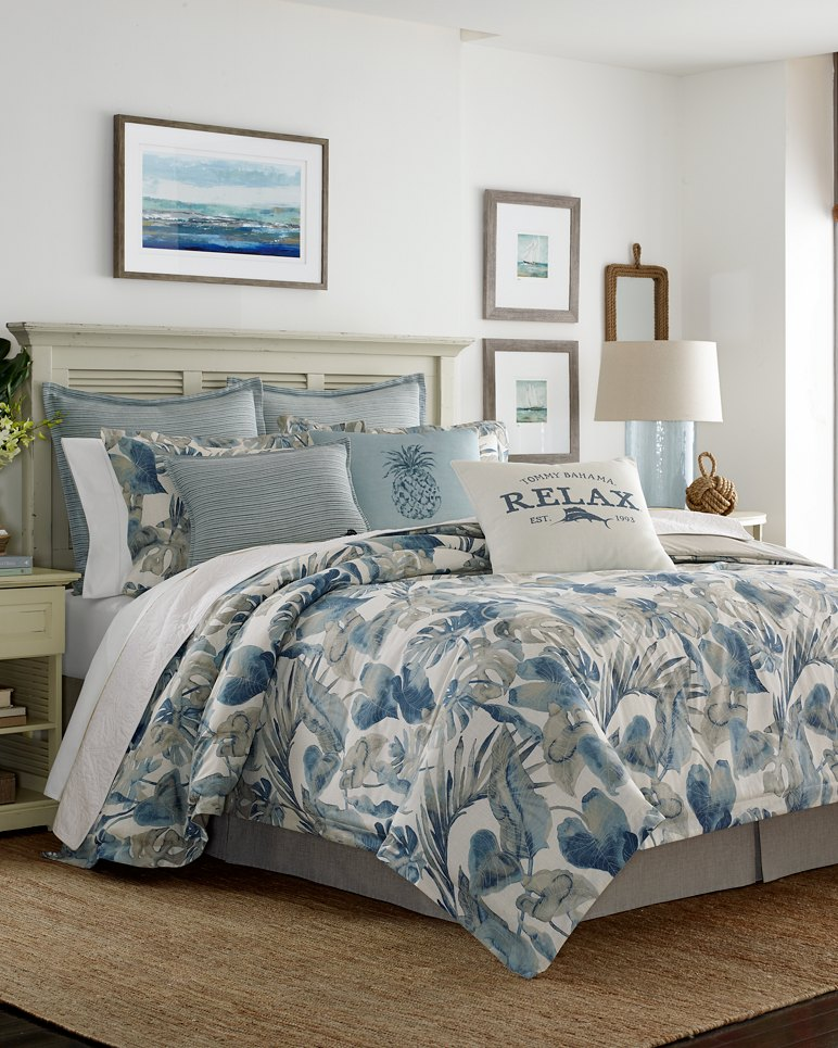 Tommy Bahama Bedding Sets.Raw Coast Queen Comforter Set