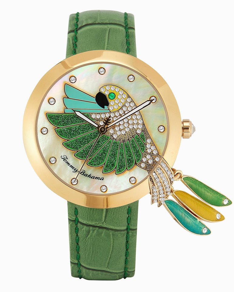 Parrot Tails Watch With Swarovski® Crystals by Tommy Bahama