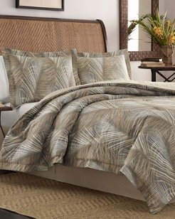Raffia Palms King Duvet & Sham Set