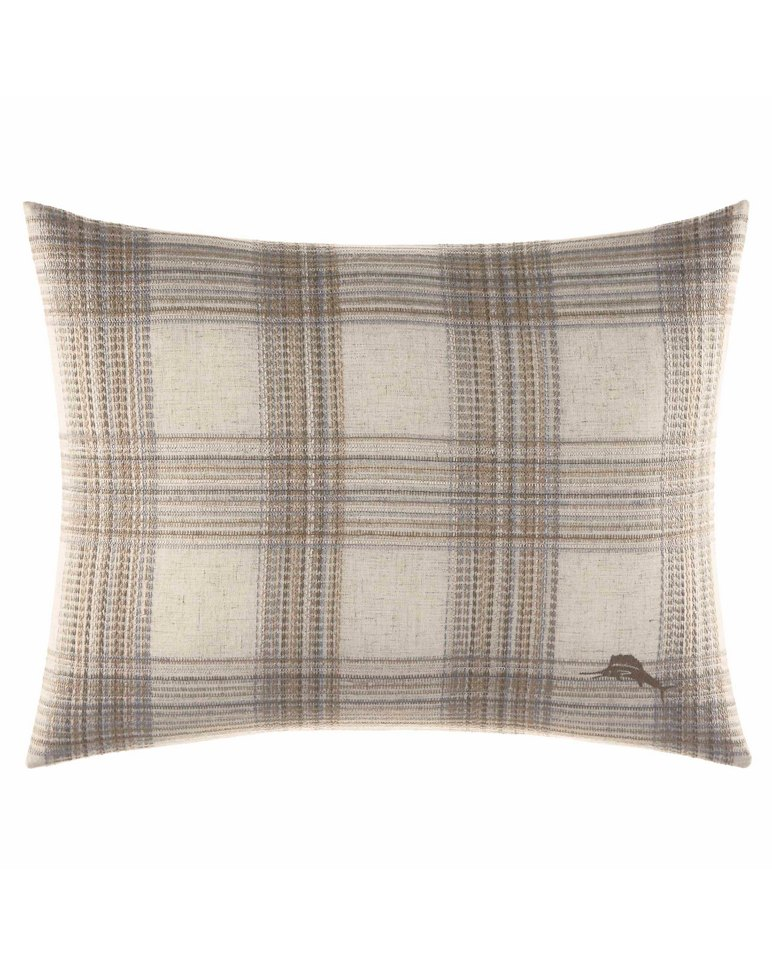 Main Image for Raffia Palms Plaid 16x20-Inch Pillow