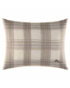Raffia Palms Plaid 16x20-Inch Pillow