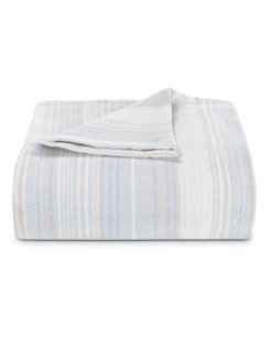 Sandy Shore Stripe Pale Blue King Blanket