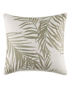 Palms Away Leaf 16-Inch Pillow