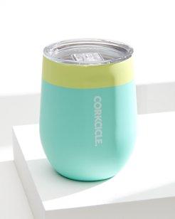 Dip Dye Limeade Corkcicle Stemless Wine Glass, 12 oz.