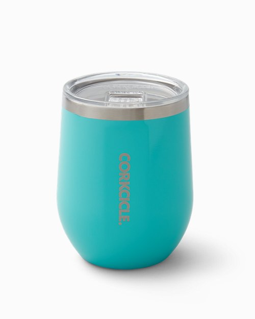 Turquoise Corkcicle® Stemless Wine Glass, 12 oz.