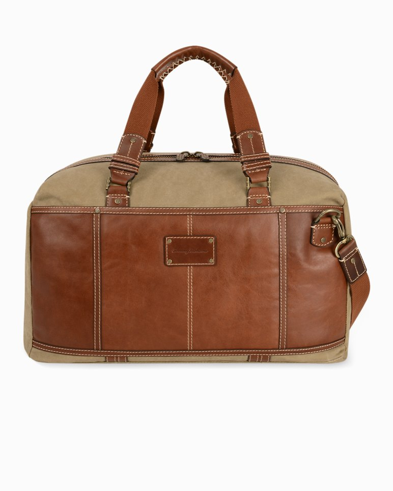 1f4f62255490 Main Image for Canvas   Leather Duffel Bag