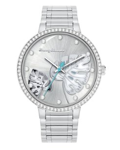 Shimmery Fronds Watch With Swarovski® Crystals