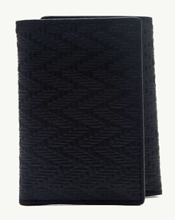Embossed Leather Trifold Wallet