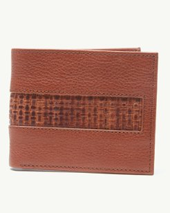 Woven Inlay Slimfold Wallet