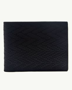 Embossed Leather Slimfold Wallet