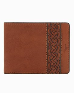 Braided Inlay Slimfold Wallet