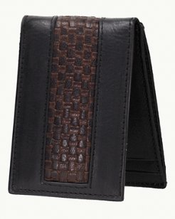 Woven Inlay Magnetic Front Pocket Wallet