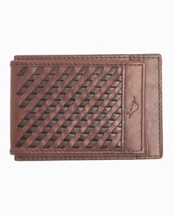 Laced Leather Wallet