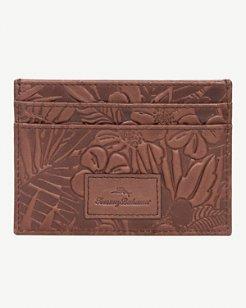 Fez Floral Leather Card Case