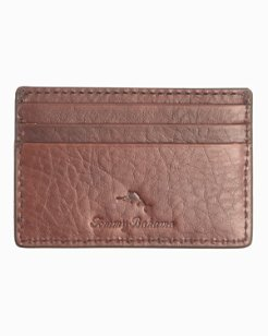 Laced Leather Card Case