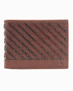 Laced Leather L-Fold Wallet