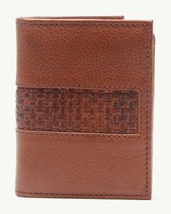 Woven Inlay L-Fold Wallet
