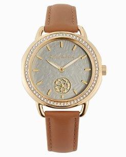 Spinning Flower Watch With Swarovski® Crystals